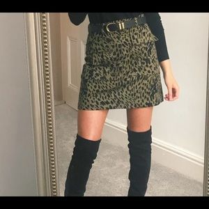 Zara leopard mini skirt.